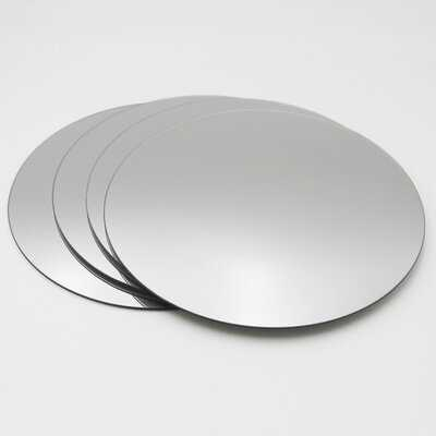 4 Piece Decorative Wall Self Adhesive Modern Mirror Set - Wayfair