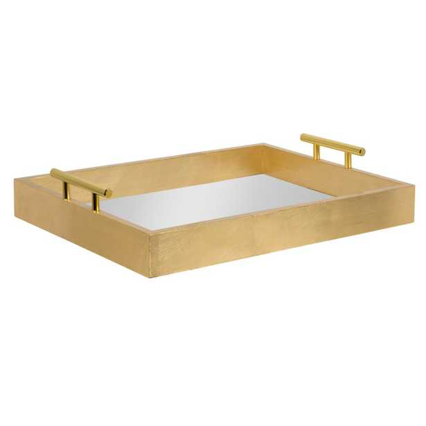 Kate and Laurel Lipton Gold Decorative Tray - Home Depot