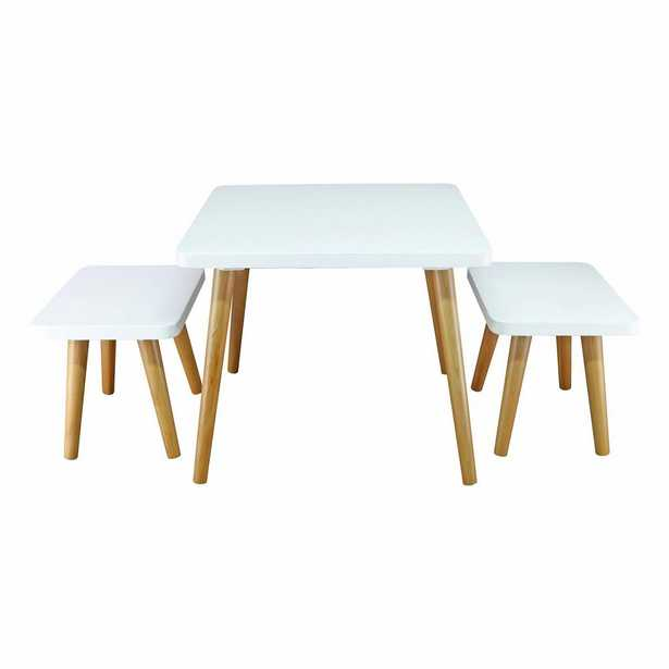American Trails White and Maple 3-Piece Easel Kids Table and Chair Set - Home Depot