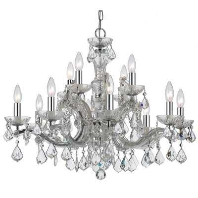 Catchings 12-Light Crystal Chandelier - Wayfair