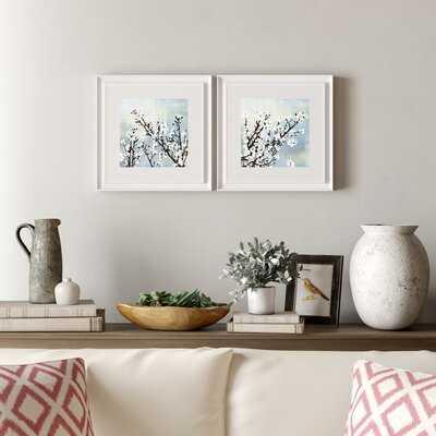'Cherry Blossoms' 2 Piece Picture Frame Graphic Art Set - Birch Lane
