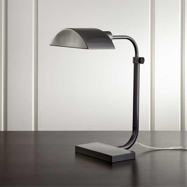 Theorem Patina Bronze Desk Lamp - Crate and Barrel