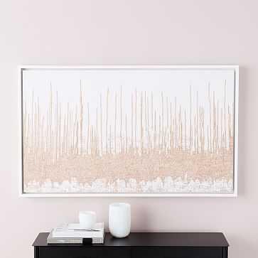 "Framed Woven Tapestry Wall Art, 30""x50"" - West Elm"