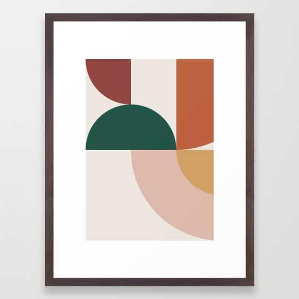 Abstract Geometric 12 Framed Art Print by Theoldartstudio 20x26 - Society6