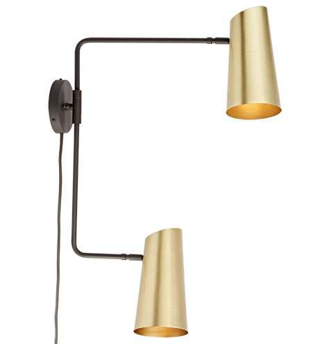 Cypress Double Swing Arm Sconce Plug-In - Rejuvenation