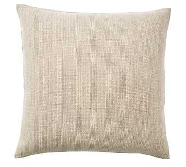 "Stonewashed Cotton Pillow, 24"", Neutral - Pottery Barn"