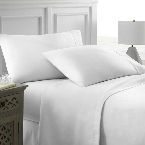 Performance White Queen 4-Piece Bed Sheet Set - Home Depot