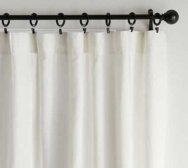 """Classic Belgian Flax Linen Blackout Curtain, Classic Ivory 50 x 96"""", - Pottery Barn"""