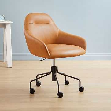 Valentina Leather Office Chair - West Elm