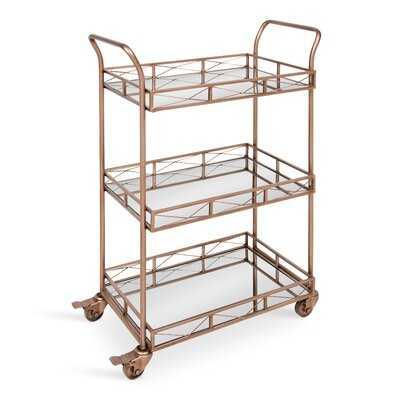 Menachem Metal 3 Tiered Tray Bar Cart - AllModern