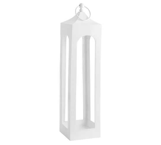 Caleb Lanterns - White, Large - Pottery Barn