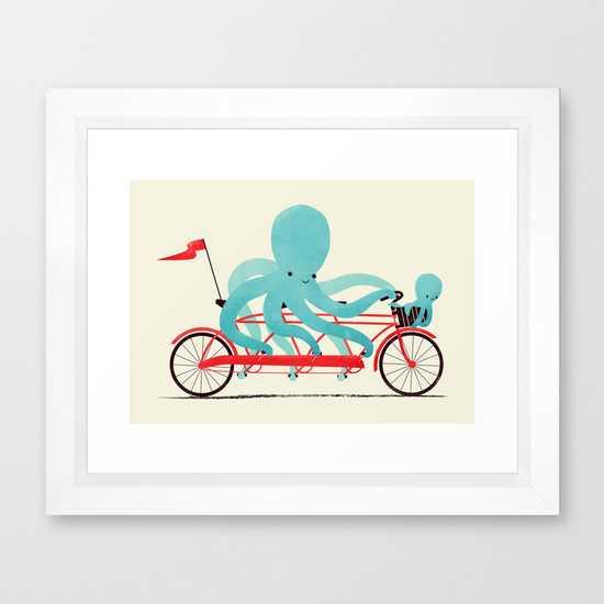 "My Red Bike  VECTOR WHITE MINI (12"" X 10"") - Society6"