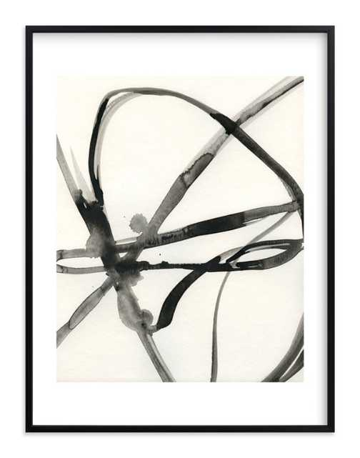 """Plant Cell 1 - 30"""" x 40"""" - Rich Black Wood Frame, White Border - Minted"""