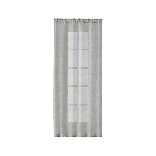 "Torben 48""x84"" Grey Sheer Curtain Panel - Crate and Barrel"