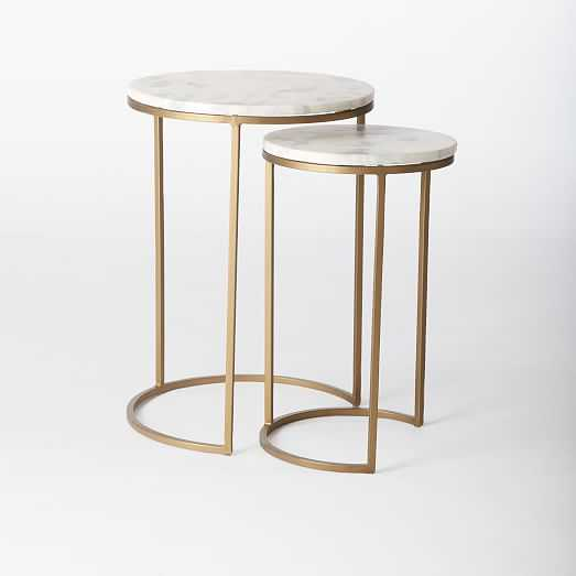 Round Nesting Side Tables - Set of 2 - West Elm