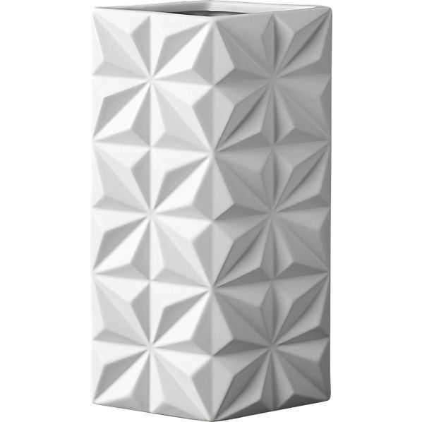 Hendricks white vase - CB2