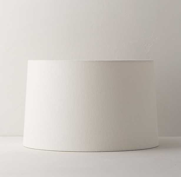 LINEN-COTTON TAPERED DRUM SHADE, LARGE - RH Teen