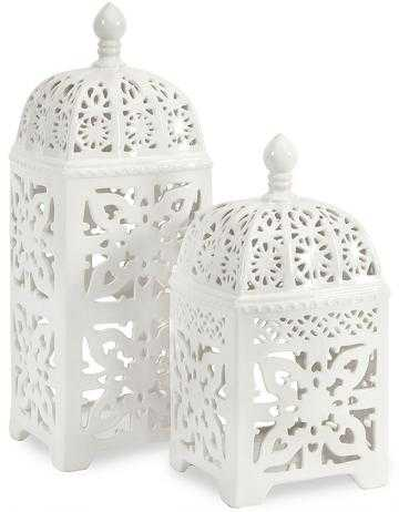 Maya Lanterns - Set Of 2 - Home Depot