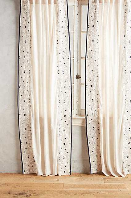 """Sketched Edges Curtain - 96"""" - Anthropologie"""
