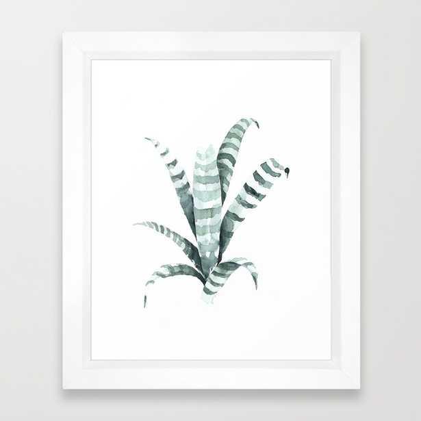 Tiger Plant-vector white, 10 x 12 - Society6