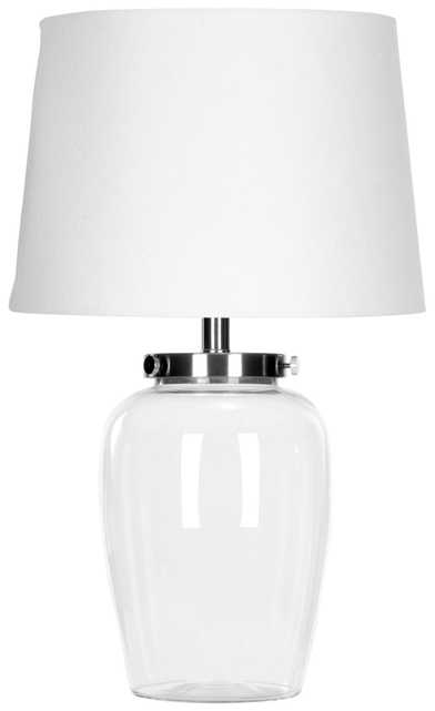 EVAN CLEAR GLASS TABLE LAMP - Arlo Home