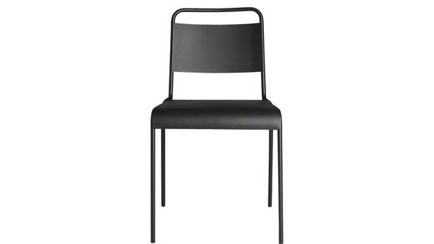 Lucinda black stacking chair - CB2