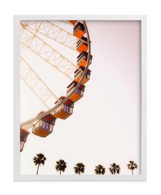 "California dreams - 11"" x 14"" - White Wood Frame - No mat - Minted"