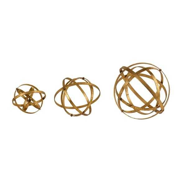 Stetson Gold Spheres, S/3 - Hudsonhill Foundry