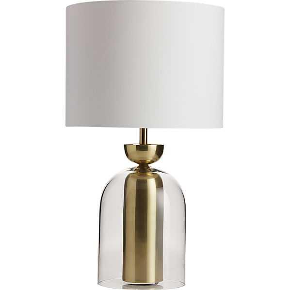 Bell jar table lamp - CB2