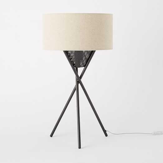 Mid-Century Tripod Table Lamp - Antique Bronze - West Elm