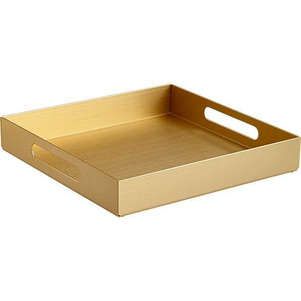 Aluminum small gold tray - CB2