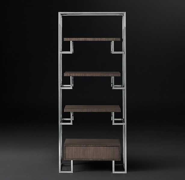 ARGOS SHELVING - Grey & Polished Stainless Steel - RH Modern