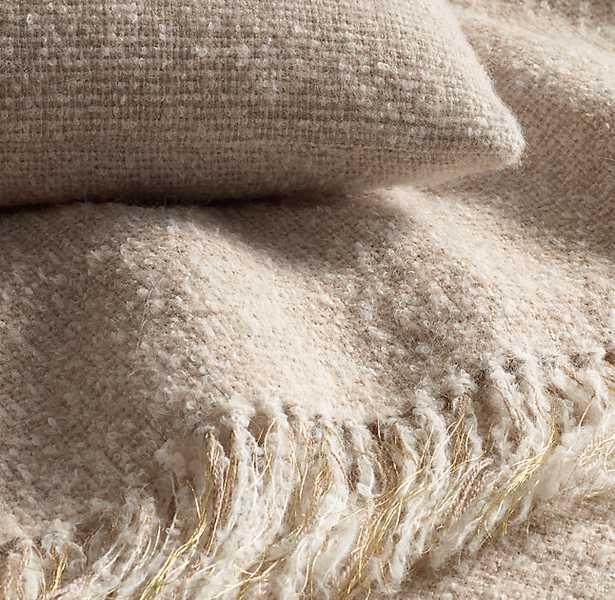 Alpaca Bouclé Weave Oversized Bed Throw - Dune - RH