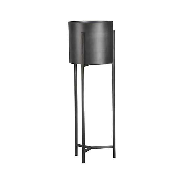 Dundee Floor Planter with Tall Stand - Crate and Barrel