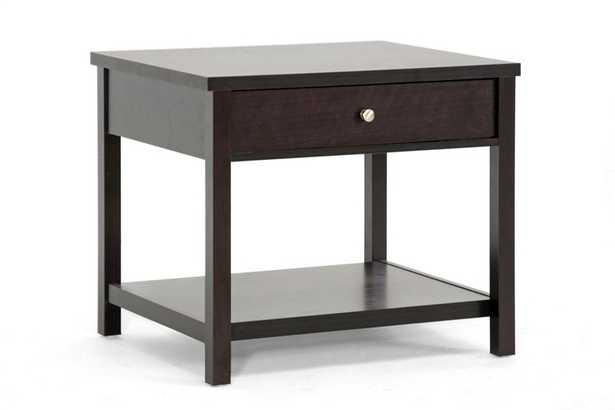 Baxton Studio Nashua Brown Modern Accent Table and Nightstand - Lark Interiors