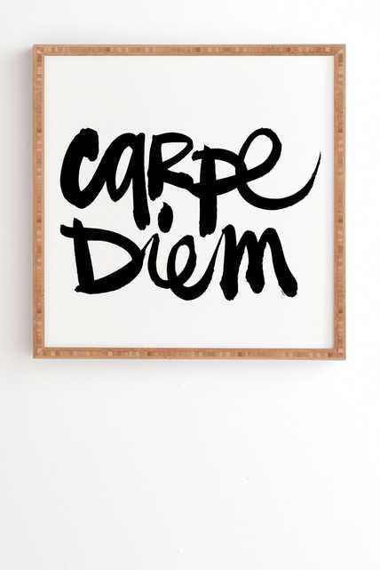 CARPE DIEM-12x12 bamboo frame - Wander Print Co.