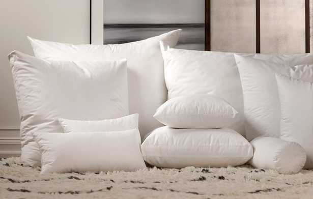 """Down Pillow Insert - 23"""" x 23"""": Havenly Recommended Basic - Noble Feather Co."""