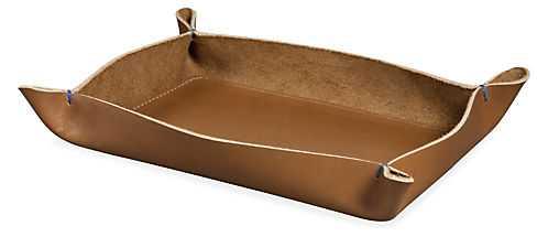 Brando Leather Valet Trays - Small - Room & Board