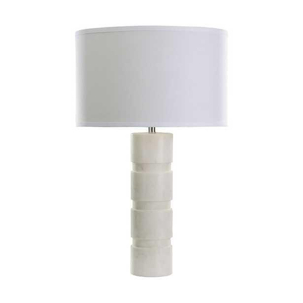 Round Stacked Marble Table Lamp - Rosen Studio