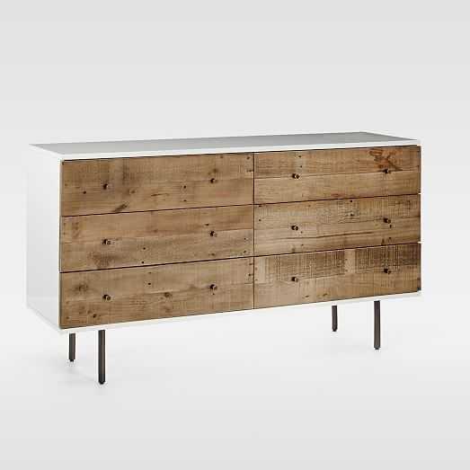 Reclaimed Wood + Lacquer 6-Drawer Dresser - West Elm