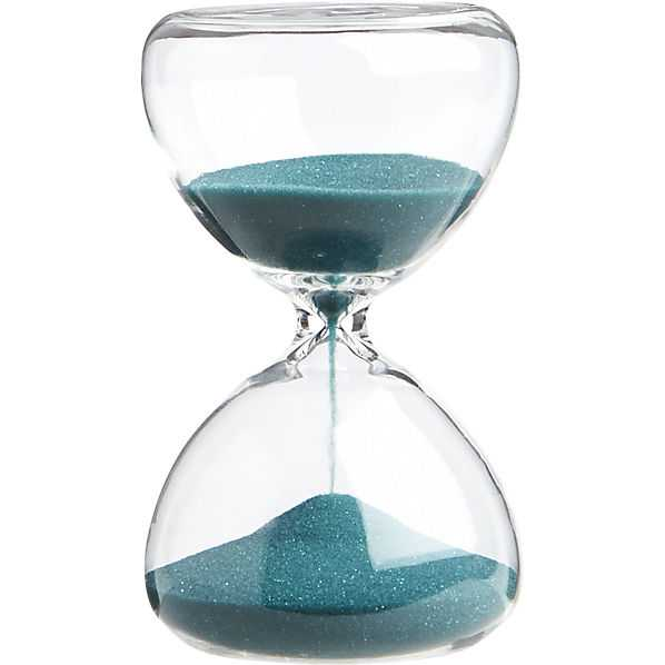 5-minute turquoise hour glass - CB2