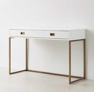 Avalon Desk - Waxed White - RH Teen