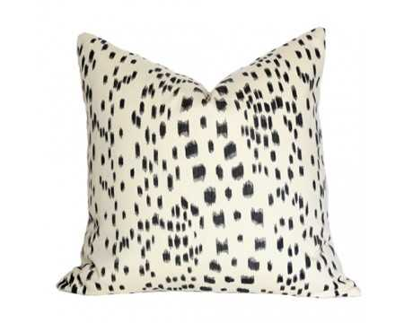 """Les Touches Black Pillow Cover - 18"""" x 18"""", Pattern on front, No insert - Arianna Belle"""