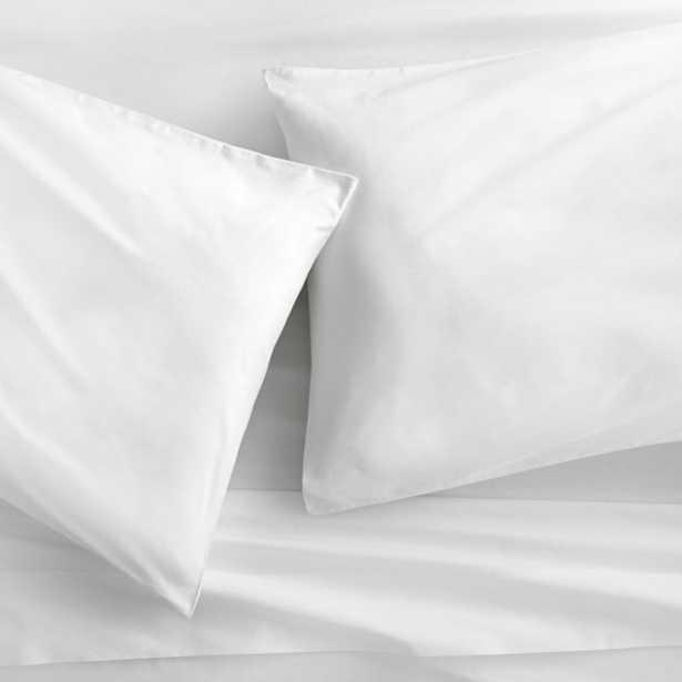 organic white percale king pillowcases set of 2 - CB2