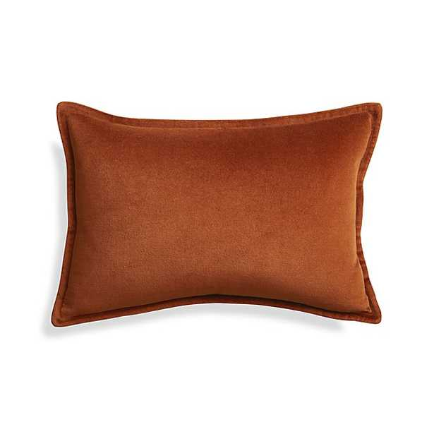"""Brenner Rust 18""""x12"""" Pillow with Down-Alternative Insert - Crate and Barrel"""