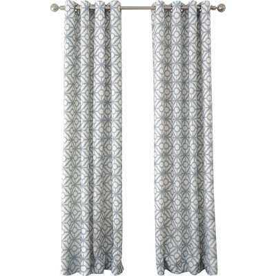 """Crackle Single Curtain Panel-Blue Mist-95"""" - Wayfair"""