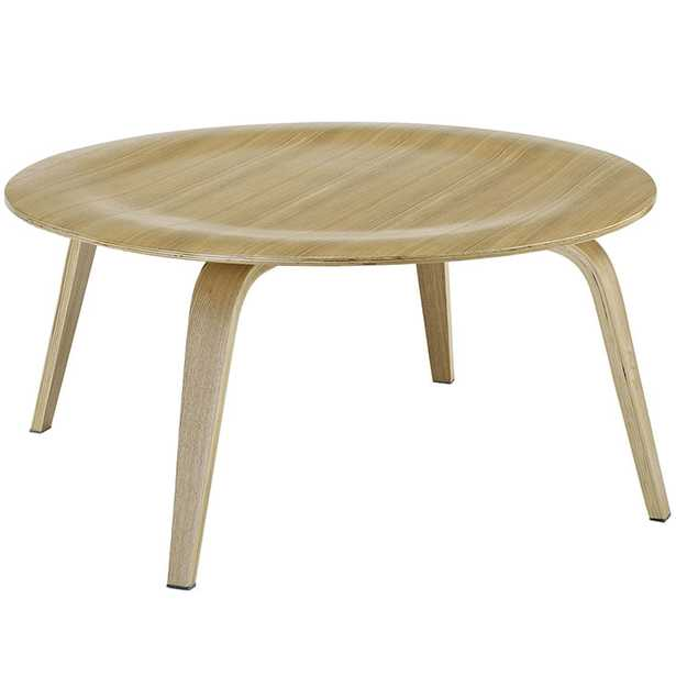 PLYWOOD COFFEE TABLE IN NATURAL - Modway Furniture