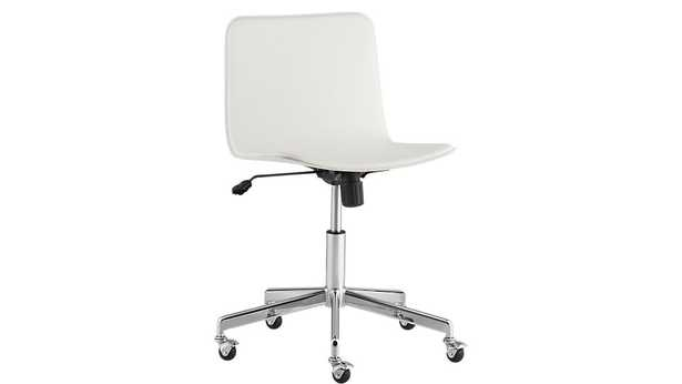 Form white office chair - CB2