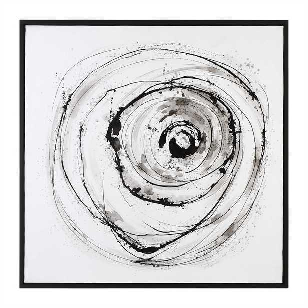 Eye On The World - 41x41 - Black Frame - No mat - Hudsonhill Foundry
