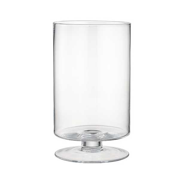 London Large Glass Hurricane Candle Holder Large - Crate and Barrel